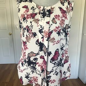 Laundry By Shelli Segal Tops - LAUNDRY BY SHELLI SEGAL BUTTERFLY TANK TOP SZ SM